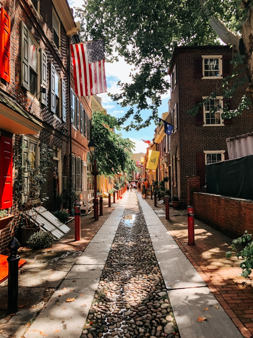 Elfreth's Alley is a must do in Philadelphia. Restored to it's original beauty, this cobblestone street greets guests from all over the world.