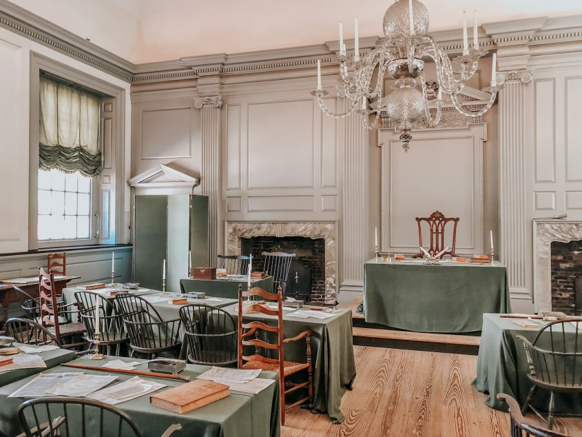 Independence Hall is an important part of Philadelphia's history. Make sure you book your tour tickets in advance to see this very room where the declaration of independence was signed