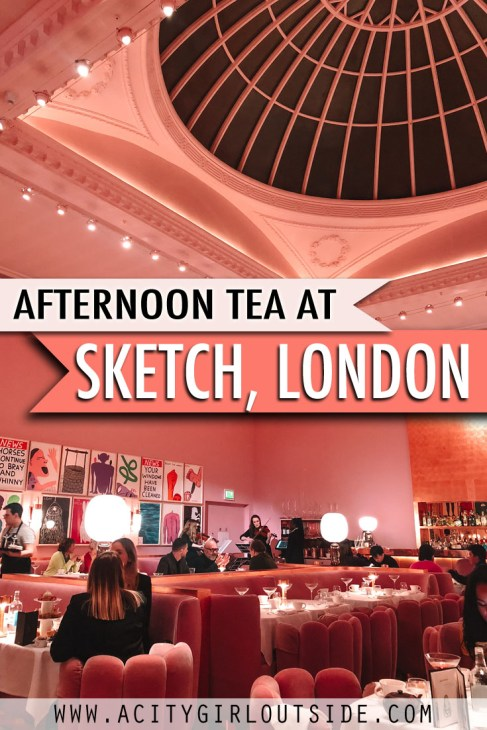 Must do afternoon in London at Sketch Gallery - London's prettiest afternoon tea experience
