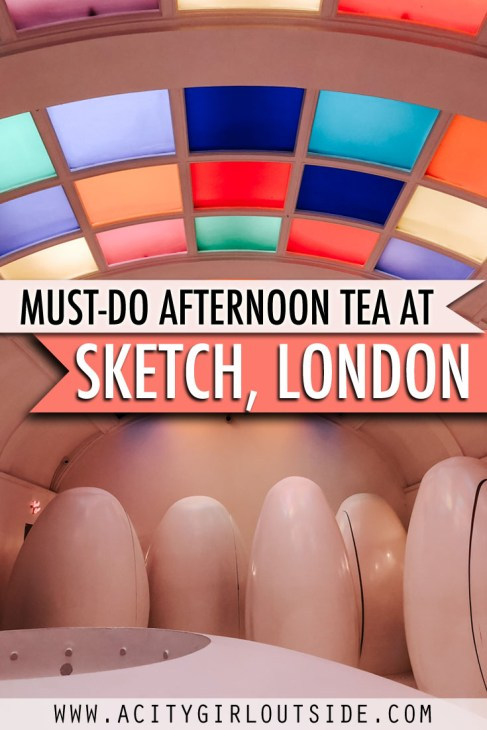The Unique and Quirky Sketch, London is one of best afternoon tea's in London, England