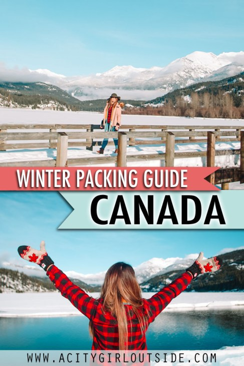 Winter packing guide and list for Canada