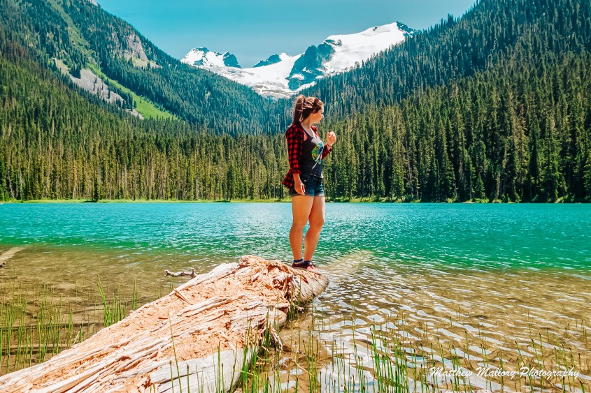 The first lake at Joffre Lakes is an easy 5 minute walk from the parking lot