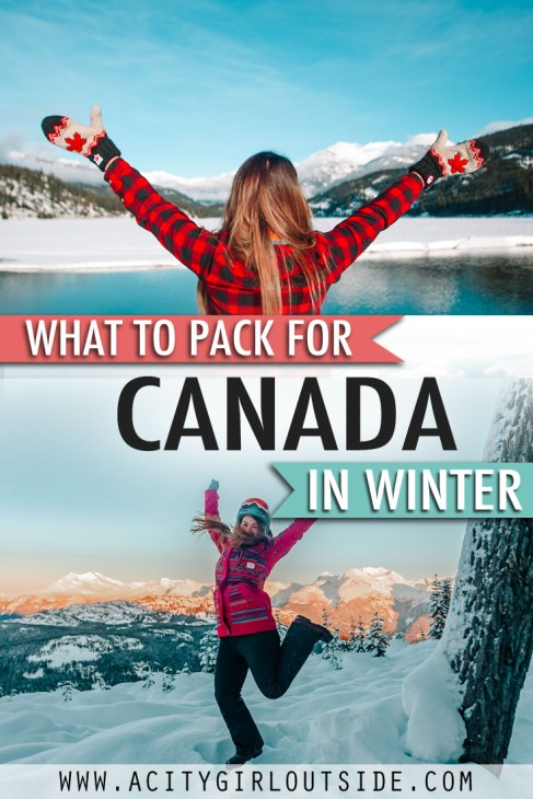 Winter clothes Canada and what to pack