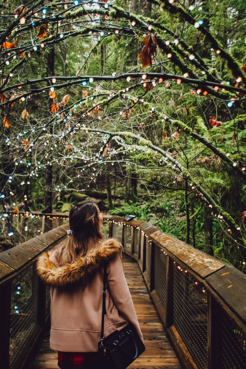 The Canyon Lights exhibit at Capilano Suspension Bridge Park i perfect for taking photos