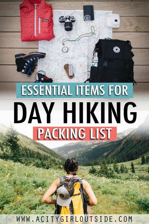 Day hiking essentials packing list
