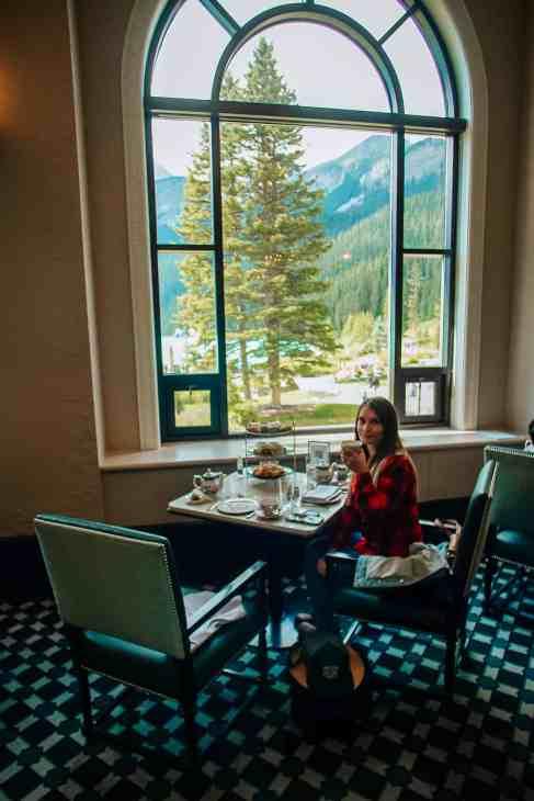 Enjoying afternoon in Lake Louise, Banff.