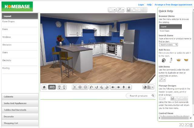 Homebase Kitchen Design App