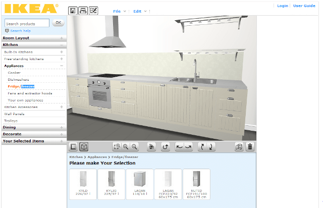 Online Planner Design Kitchen
