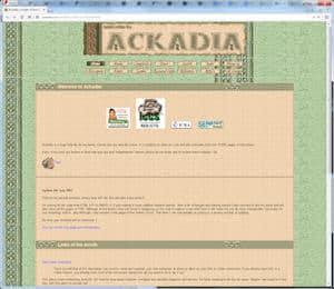 screenshot for Ackadia, 2003, v5.2