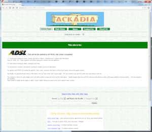 screenshot of Ackadia, 1999, v2