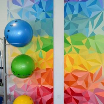 Fitness Room Mural