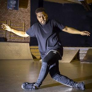 Patrick mach Mittwochs das Breakdancetraining