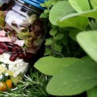 Mason Jar Salate - Italien im Dressing