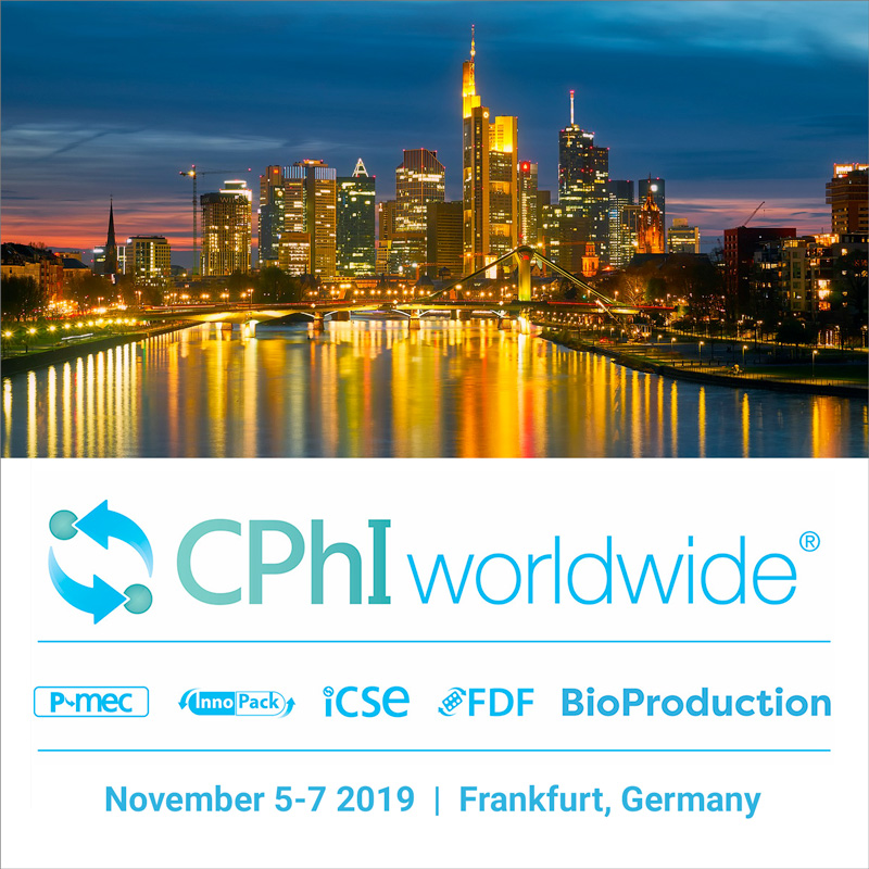 Ackley at CPhI Worldwide in Frankfurt Nov 5-7 2019