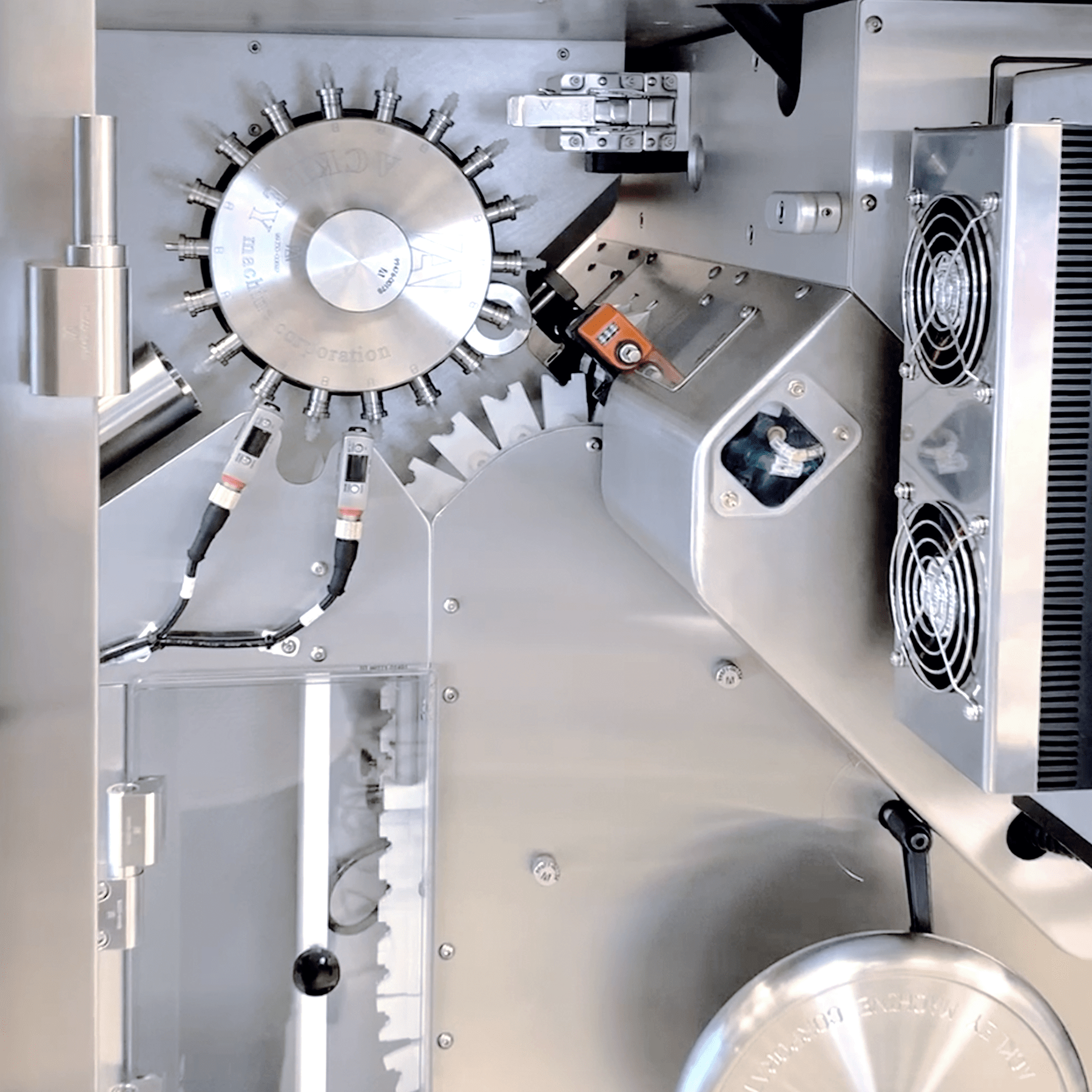Closeup of Osmotic Laser Drilling Machine with NIR Inspection