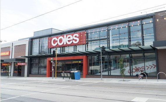 "COLES 1 HEADER - COLES receives an impressive finish with our ""Metal Shingle Cladding"""