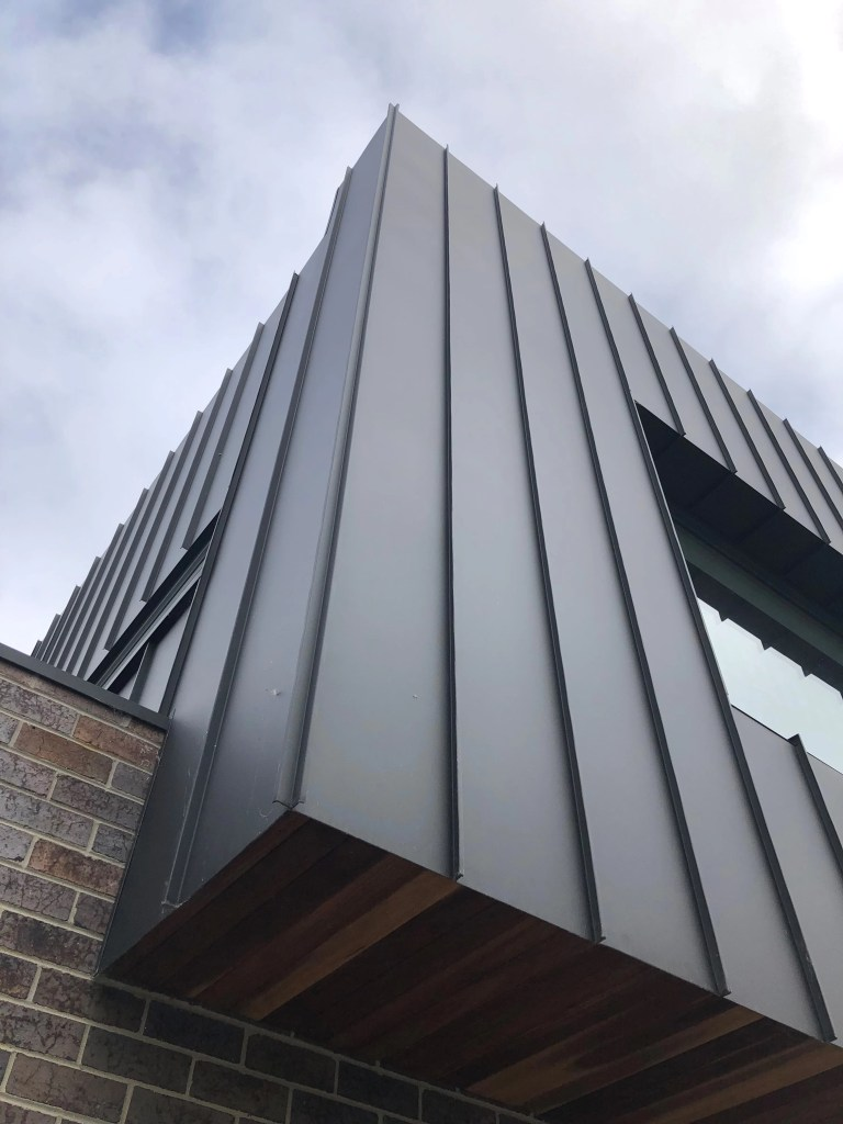 , COLORBOND® steel Matt And Standing Seam Metal Cladding Work Perfectly Together