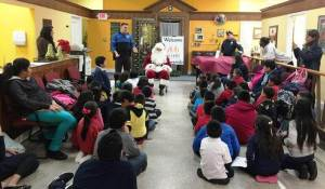 The Norristown Police Department made sure that Santa Claus put in an appearance.