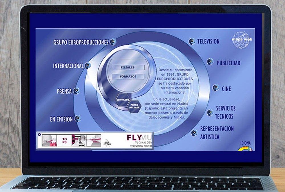Diseño Web para la página de Europroducciones