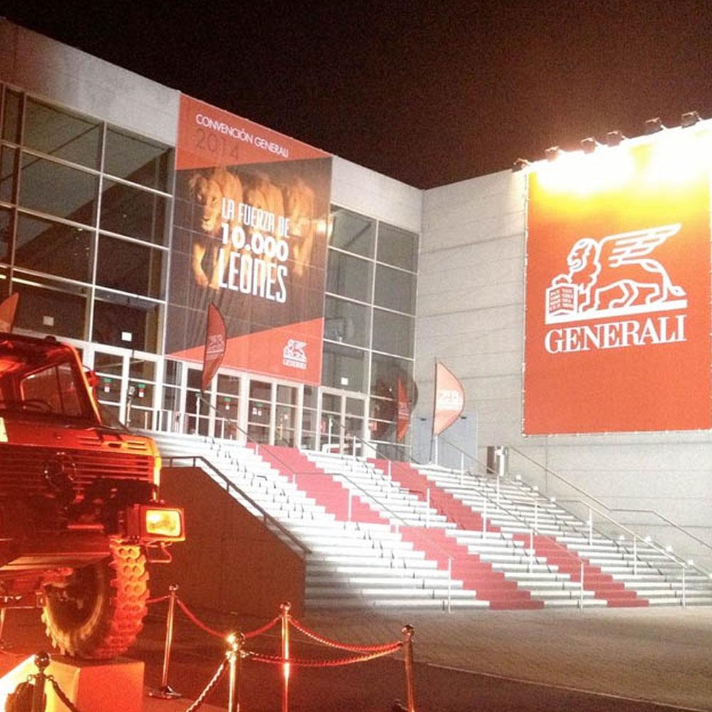 Organización del evento para Generali con la agencia Bassat&Ogilvy. Estudio Aclararte.