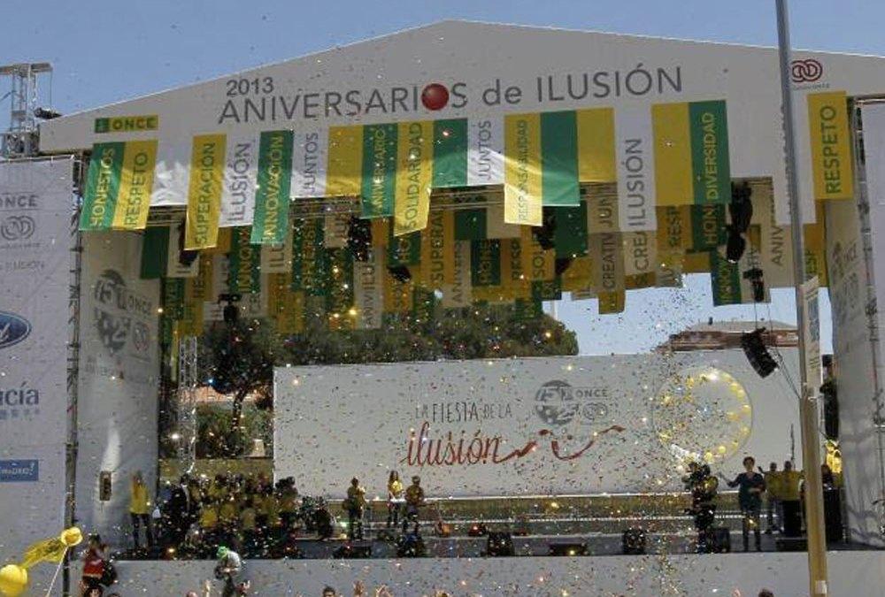 """Organización de eventos """"Aniversarios de la ilusión"""" ONCE"""