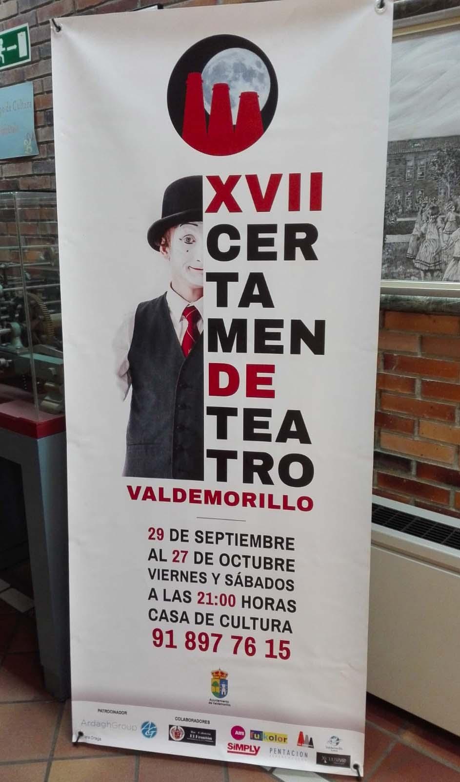 Roll up XVII Certamen de Teatro de Valdemorillo Portafolio Klerr Clara Ortega