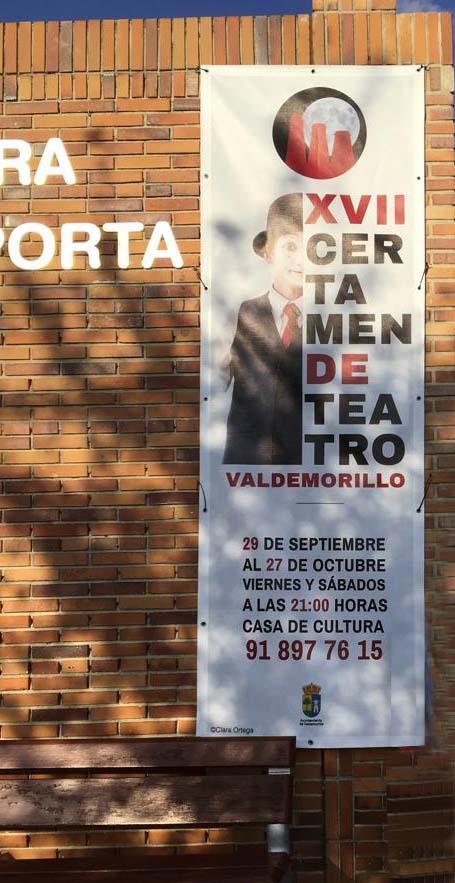 bandera XVII Certamen de Teatro de Valdemorillo Portafolio aclararte Clara Ortega