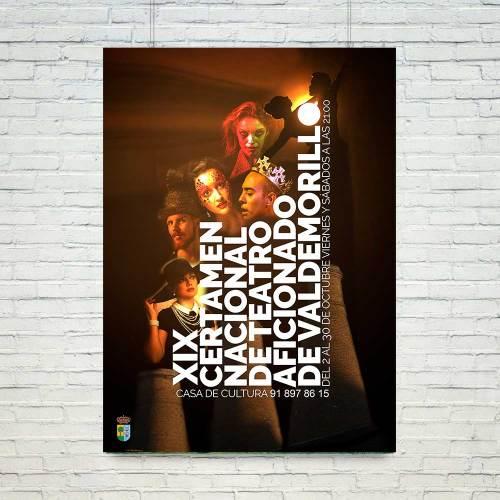 Cartel XIX Certamen de Teatro de Valdemorillo