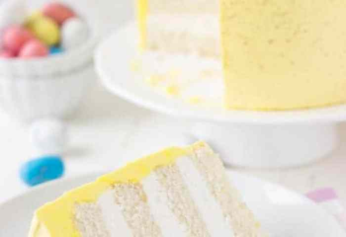 Coconut Lemon Layer Cake Easter Speckled Egg Cake A Classic Twist