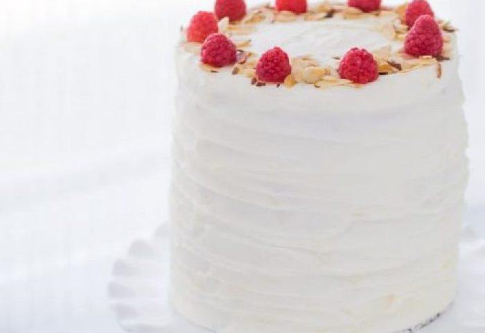 Lemon Raspberry Cake With Honey Mascarpone Filling And Cream Cheese