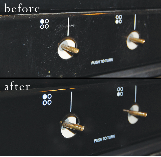 how to clean grimy oven knobs naturally without chemicals