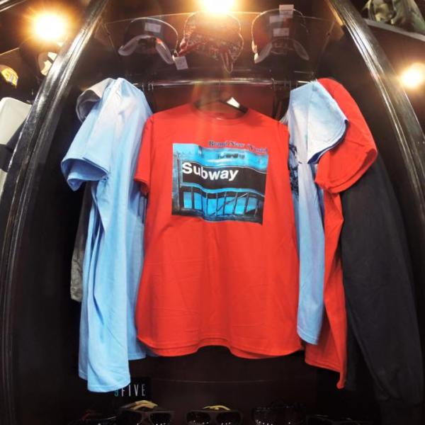 Subway T-Shirt Display