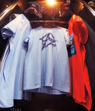 A285 T-Shirt Display