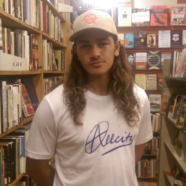 Mitch wearing the Allcity T-Shirt