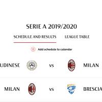 今週末からはじまるセリエA2019-20シーズンのカレンダー登録方法