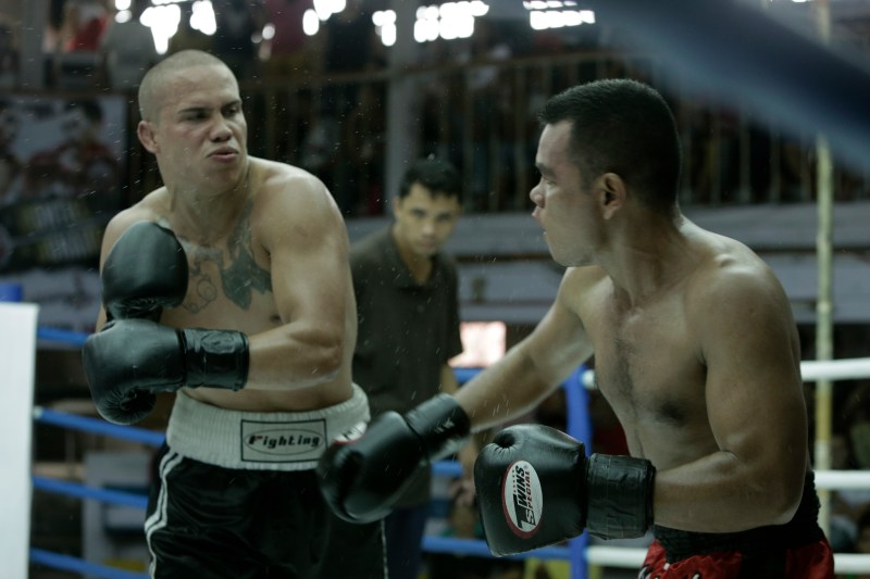Jamie (Chad McKinney) delivers a blow in 'Beast' - PHOTO Jewels Sison