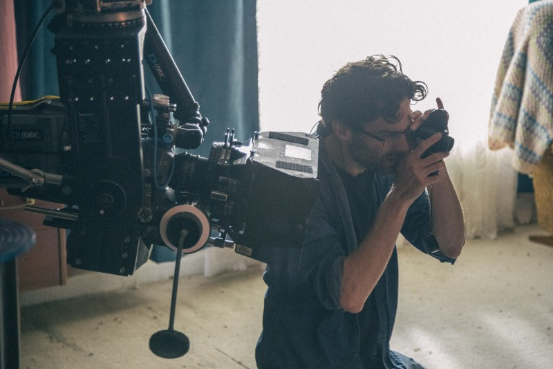 Michael Wylam (DOP) on the set of 'Nathan Loves Ricky Martin' - PHOTO Supplied