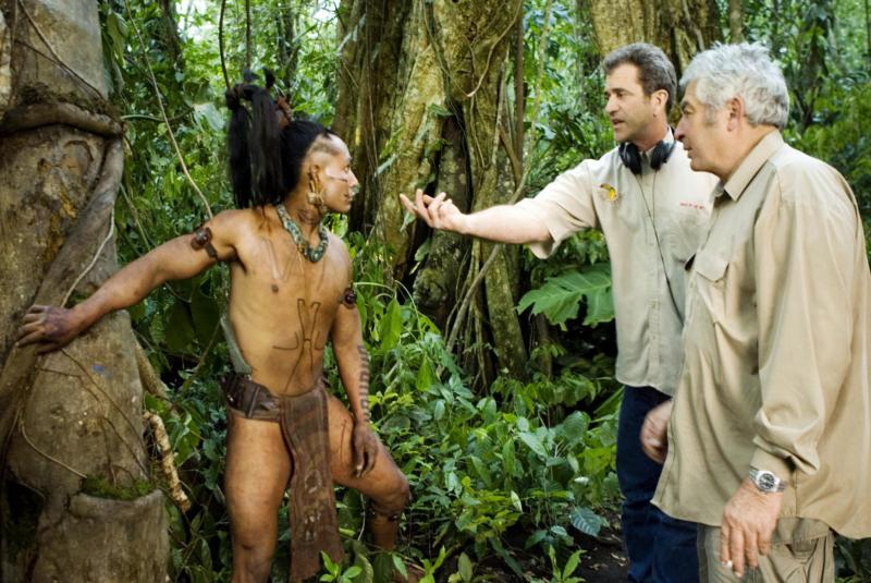 Director Mel Gibson and Semler on location while filming 'Apocalypto_ in 2005 - PHOTO Andrew Cooper