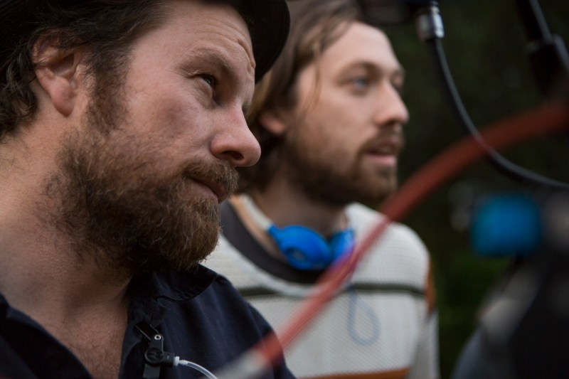 Andy Commis and Simon Stone on location with 'The Daughter' - PHOTO Mark Rogers