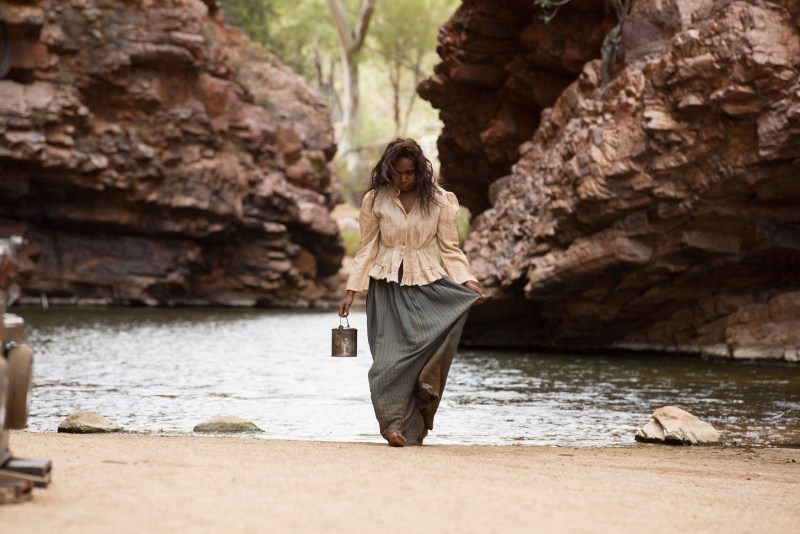 Filming Natassia Gorey Furber who plays Lizzie in the film 'Sweet Country' - PHOTO Mark Rogers