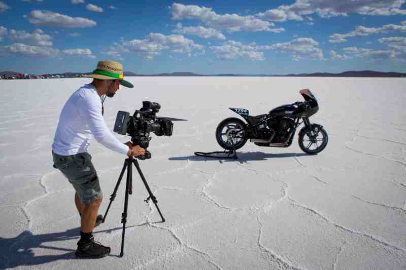 1. Edgard Ferreira at the Lake Gairdner salt flats filming 'The Ultimate Ride' - PHOTO Adam Dostalek