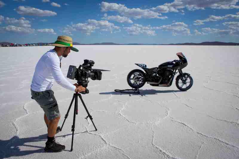 1. Edgard Ferreira at the Lake Gairdner salt flats filming 'The Ultimate Ride' - PHOTO Adam Dostalek