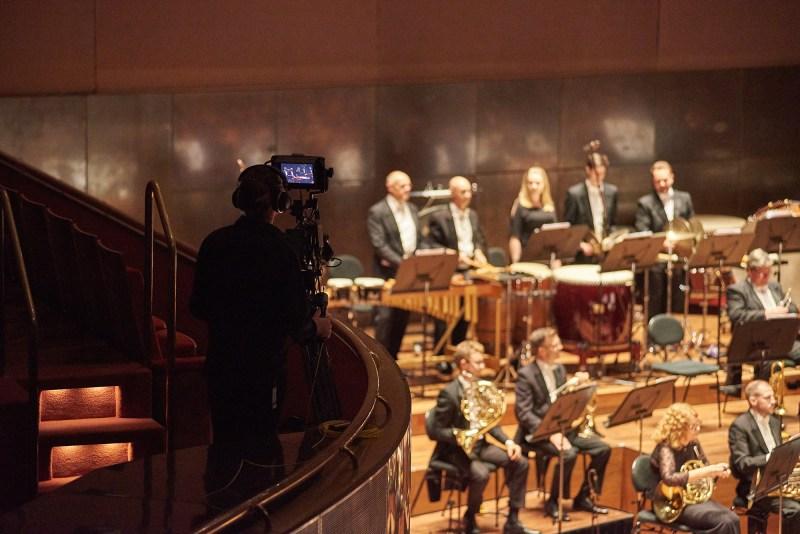 Camera Operator Ben Coe films the Melbourne Symphony Orchestra on the Blackmagic URSA Broadcast Camera - PHOTO Daniel Aulsebrook