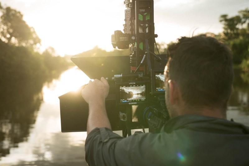 Editor and Cinamatographer Caspar Mazzotti operates the 3D Red camera rig - PHOTO Wild Pacific Media