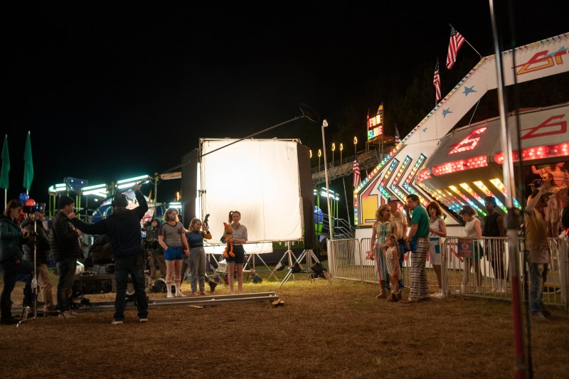 Filming at the Hawkins Fairground location for the third season of Netflix 'Stranger Things' - PHOTO Tina Rowden