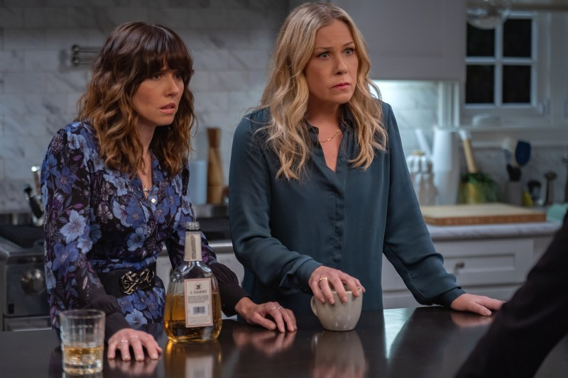 Linda Cardellini and Christina Applegate in season two of 'Dead to Me' - DOP Toby Oliver ACS, PHOTO Saeed Adyani