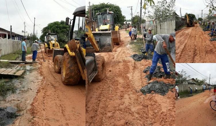 TARAUACÁ: Prefeitura faz serviço emergencial na rua Isaura Borges