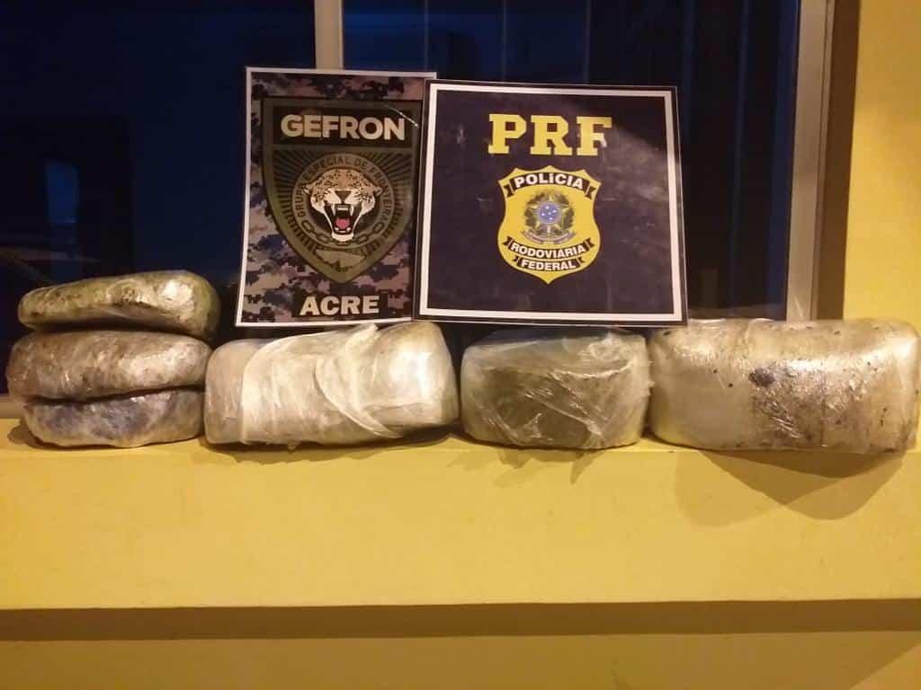 Em um mês, PF apreendeu 132 quilos de drogas no Juruá