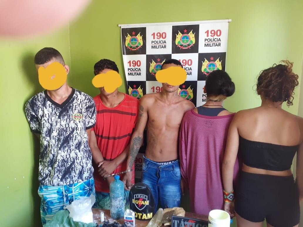 Cinco pessoas são detidas com droga; indígena está entre os apreendidos