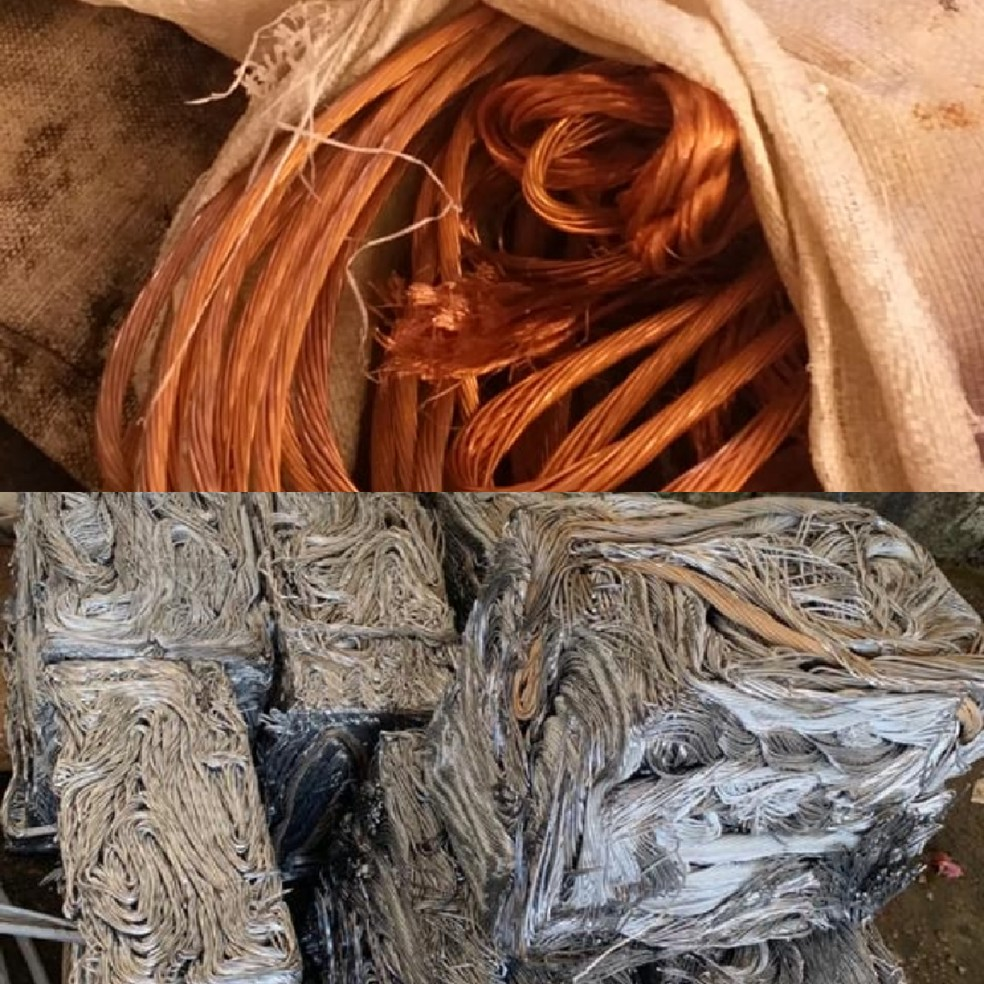 Mais de 800 quilos de cobre e alumínio furtados são apreendidos em quatro sucatões de Rio Branco